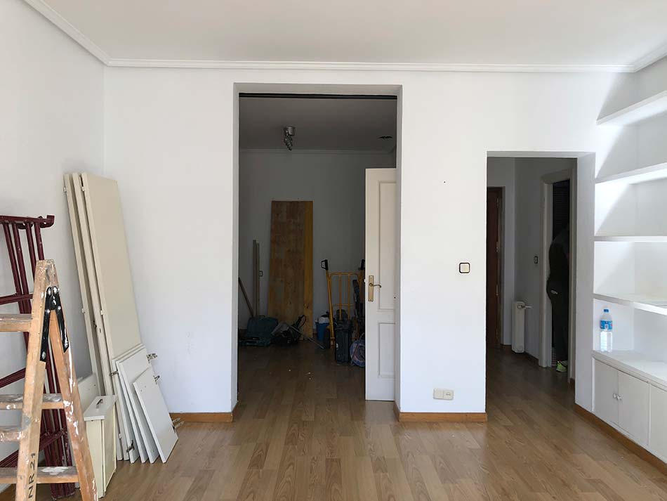 Reforma vivienda en Recoletos Madrid