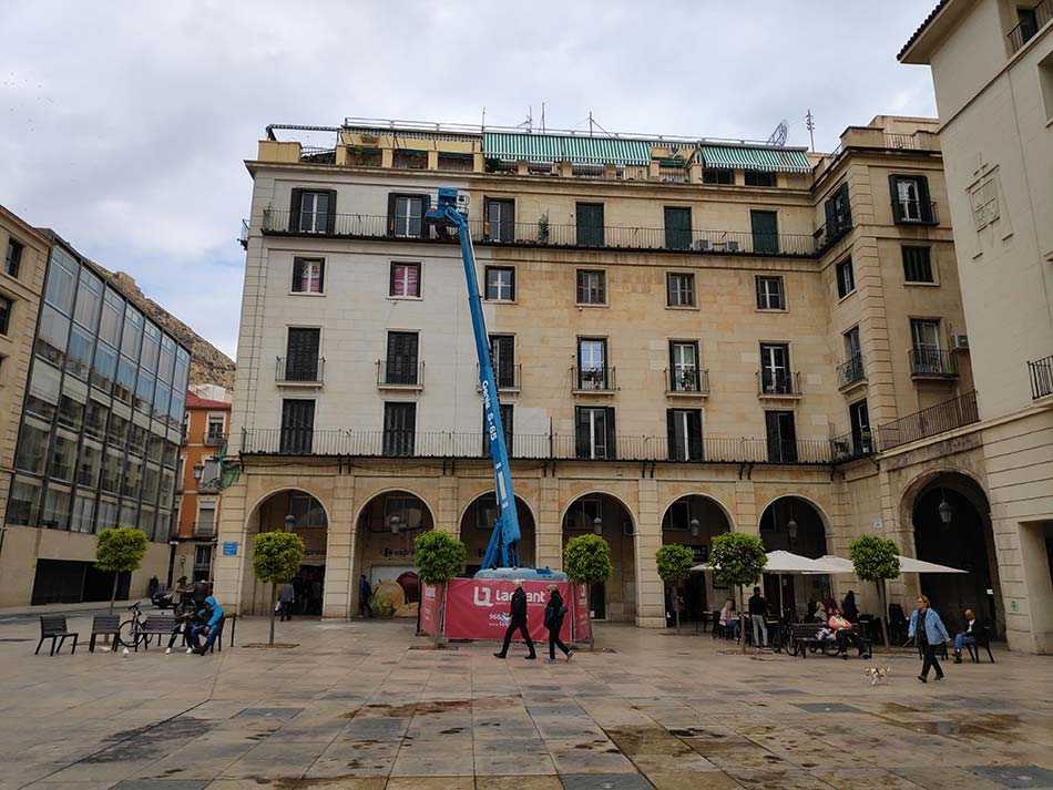 Rehabilitacion fachada Plaza Ayto Alicante - Laquant _ 1