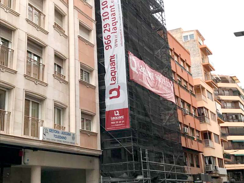 Laquant continua con las obras de 16 viviendas en la Calle Reyes Católicos de Alicante